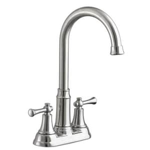 American Standard Portsmouth® 2-Hole Deckmount Bar Sink Faucet in Stainless Steel - PVD A4285420F15