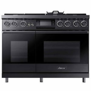 Dacor Modernist 47-7/8 in. 6-Burner Dual Fuel Natural Gas and Steam Freestanding Range Self Clean Oven in Graphite Stainless Steel DDOP48M96DLM