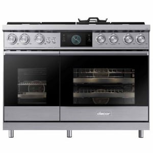 Dacor Modernist 47-7/8 in. 6-Burner Dual Fuel Natural Gas and Steam Freestanding Range Self Clean Oven DDOP48M96DL