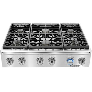 Dacor 36 in. 6-Seal Burner Natural Cooktop in Stainless Steel DEG366SCHNG