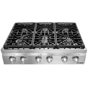 Dacor 36 in. Gas Countertop Natural Gas in Stainless Steel DDRT366SNG