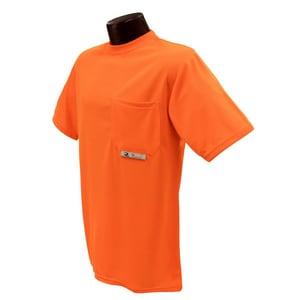 Radians ST11-N XL Size Birdseye Mesh and Plastic T-Shirt with Moisture Wicking in Hi-Viz Orange RST11NPOSXL at Pollardwater