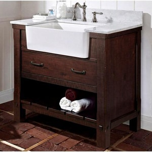 Fairmont Designs Napa 34-1/2 x 36 in. Farmhouse Vanity in Aged Cabernet F1506FV36