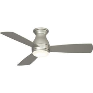 Fanimation Hugh™ 44 50W 3-Blade Ceiling Fan with 44 in. Blade Span and 1-Light LED in Brushed Nickel FFPS8332BN