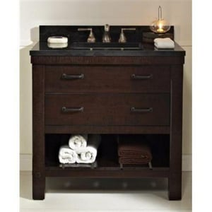 Fairmont Designs Napa Open Shelf Vanity in Aged Cabernet F1506VH36