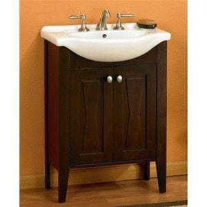 Fairmont Designs Tuxedo 26 in. Bathroom Vanity Set with Mirror Combo in Espresso F104V26