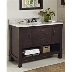 Fairmont Designs Napa 34-1/2 x 48 in. Open Shelf Vanity in Aged Cabernet F1506VH48