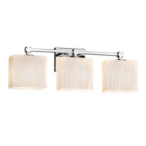 Justice Design Group Fusion™ 100W 3-Light Bath Bar Light in Polished Chrome JFSN842355RBONCROM