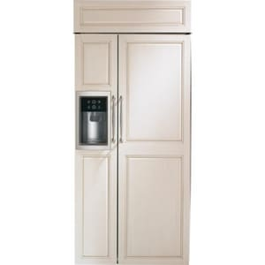 General Electric Appliances 36 in. 21.17 cf Side-By-Side Refrigerator with Dispenser in Custom Panel GZISB360DK