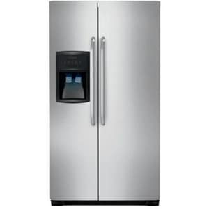 Frigidaire 32-7/8 in. 23 cf Side-By-Side Refrigerator with Ice Maker in Stainless Steel FFFEX2315QS