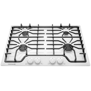 Frigidaire 30 in. 4-Burner Gas Cooktop with Continuous Cast Iron Grates in White FFFGC3026S