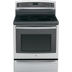 General Electric Appliances Profile™ 30 in. 5.3 cf 5-Burner Freestanding Electric Convection Induct Range in Stainless Steel and Grey GPHB920SFSS
