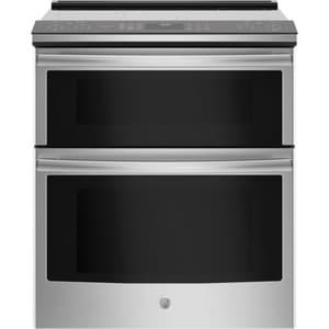GE Appliances Profile™ 29-7/8 in. Slide-In 5-Burner Electric Double Oven Convection Range in Stainless Steel GPS960SLSS