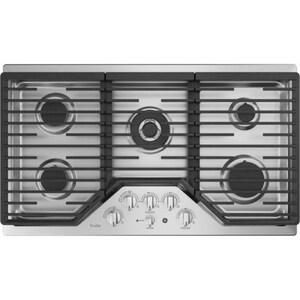 General Electric Appliances Profile™ Series 36 in. 18000 BTU 5-Burner Built-In Gas Cooktop in Stainless Steel GPGP9036SLSS