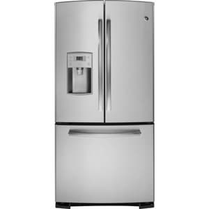 General Electric Appliances Profile™ 32-3/4 in. 22.1 cf Freestanding French Door Refrigerator in Stainless Steel GPFE22KSESS