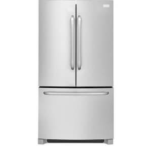 Frigidaire 36 in. 27 cf Freestanding French Door Refrigerator (Less Dispenser) in Stainless Steel FFFHN2740PS
