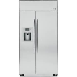 General Electric Appliances Profile™ 48 in. 29.5 cf Built-In Side-By-Side Refrigerator in Stainless Steel GPSB48YSXSS