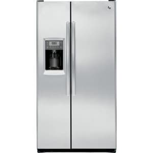 General Electric Appliances Profile™ 35-3/4 in. 23.34 cf Freestanding Side-By-Side Refrigerator in Stainless Steel GPZS23KSESS