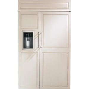 General Electric Appliances 48 in. 12.53 cf Built-In Side-by-Side Refrigerator with Dispenser in Stainless Steel GZISB480DK