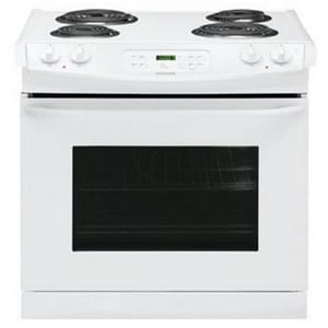 Frigidaire 30 in. 4-Burner Drop-In Electric Convection Range in White FFFED3015PW
