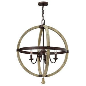 Fredrick Ramond Middlefield 60W 4-Light Chandelier in Iron Rust FFR40564IRR