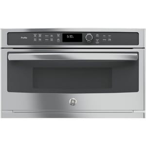 GE Appliances Profile™ 29-7/8 in. 1.7 cf 1600W Built-In Microwave Oven in Stainless Steel GPWB7030SLSS