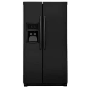 Frigidaire 33 in. 22 cf Side-by-Side Refrigerator in Ebony Black FFFSS2325TE
