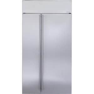 General Electric Appliances Monogram® 25.39 cf Built-In Side-by-Side Refrigerator in Stainless Steel GZISS420NKSS
