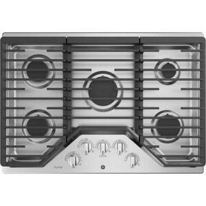 General Electric Appliances Profile™ Series 30 in. 18000 BTU 5-Burner Built-In Gas Cooktop in Stainless Steel GPGP7030SLSS