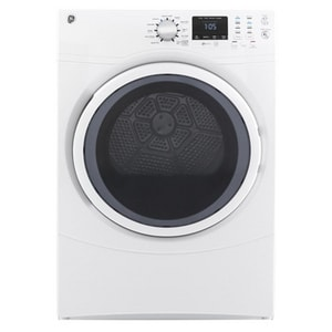 General Electric Appliances 7.5 cf 10-Setting Front Load Electric Dryer in White GGFD43ESSMWW
