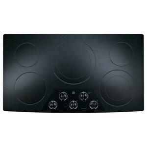 General Electric Appliances 36 in. 8.7kW 5-Burner Built-In Electric Cooktop in Black GJP656DDBB