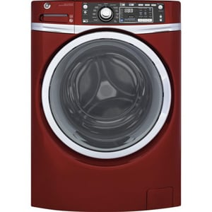 General Electric Appliances 4.9 cf Capacity Front Load Washer with Steam in Red GGFW480SPKRR