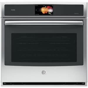 General Electric Appliances Profile™ Series 29-3/4 in. 5 cf Built-In Single Electric Convection Wall Oven in Stainless Steel GPT9051SLSS