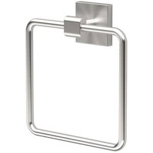 Gatco Elevate Suite Rectangular Closed Towel Ring in Satin Nickel G4072