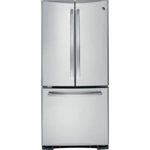 General Electric Appliances Profile™ 29-3/4 in. 20 cf Freestanding French Door Refrigerator in Stainless Steel GPNS20KSHSS