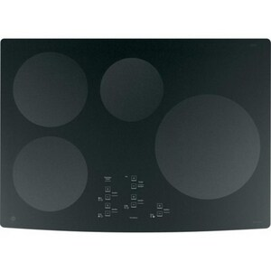 General Electric Appliances Profile™ 30 x 3-1/4 in. 7.7kW 4-Burner Induction Electric Cooktop in Black GPHP900DMBB