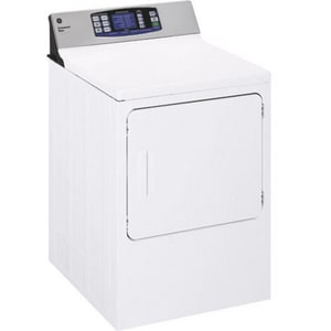 General Electric Appliances 27 in. 7 cf 240V 5-Cycle Commercial Front Load Dryer in White GDNCD450EGWC