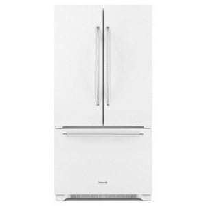 Kitchenaid ExtendFresh® 16.35 cf Counter Depth French Door Refrigerator with Interior Dispenser in White KKRFC302EWH