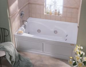 JACUZZI® Cetra® 60 x 36 in. Whirlpool Drop-In Bathtub with End Drain in Black JCT26036WRL2XXB