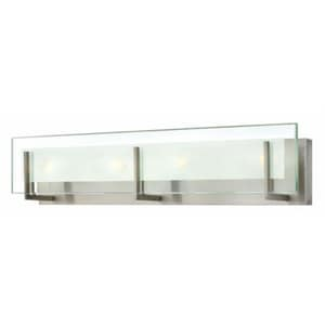 Hinkley Lighting Latitude 5-3/4 in. 10W 4-Light Wall Mount Medium LED Bath Light in Brushed Nickel H5654BNLED