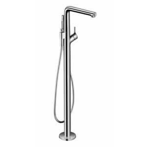 Hansgrohe Talis S 1.75 gpm Freestanding Tub Filler Trim with Single-Handle and Handshower in Polished Chrome H72413001