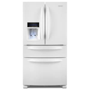 Kitchenaid 25 cf French Door Refrigerator with Dispenser in White KKFXS25RYWH