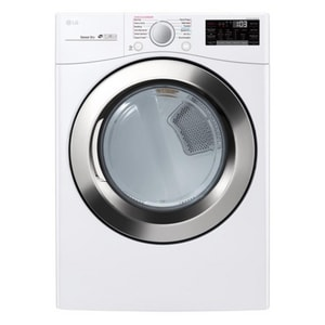 LG Electronics 38-69/100 x 27 in. 7.4 cf Front Load Electric Dryer in White LGDLEX3700