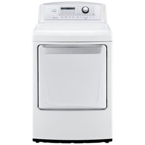 LG Electronics 28-3/8 in. 7.3 cf High Efficiency Front Control Dryer with Sensor Dry in White LGDLE4970W