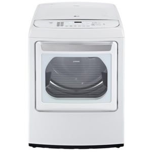 LG Electronics 7.3 cf Electric Steam Dryer in White LGDLGY1702E