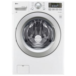 LG Electronics 5 cf Ultra Large Capacity Front Load Washer in White LGWM3270CW