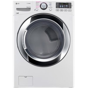 LG Electronics SteamDryer™ 28-3/8 in. 7.4 cf Ultra Large Front Load Dryer in White LGDLGX3571