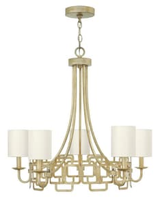 Hinkley Lighting Sabina 60W 5-Light Candelabra E-12 Chandelier in Silver Leaf H4915SL