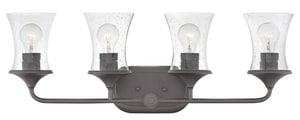 Hinkley Lighting Thistledown 30 x 10-3/10 in. 100W 4-Light Medium E-26 Incandescent Vanity Fixture with Clear Seedy Glass in Buckeye Bronze H51804KZ