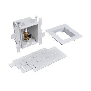 Oatey Moda™ 3-19/50 x 4-17/20 x 8 in. Ice Maker F2159 PPSU Quarter-Turn Supply Box O37706